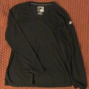 Adidas black v neck long sleeve